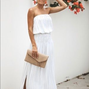 VICI Strapless Striped Maxi